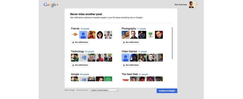 Google fördert mit einstellbaren Push- und E-Mail-Benachrichtigungen das Engagement auf Google+