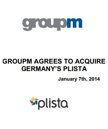 GroupM übernimmt plista