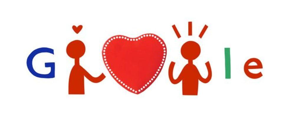 Google Doodle von heute: Valentinstag