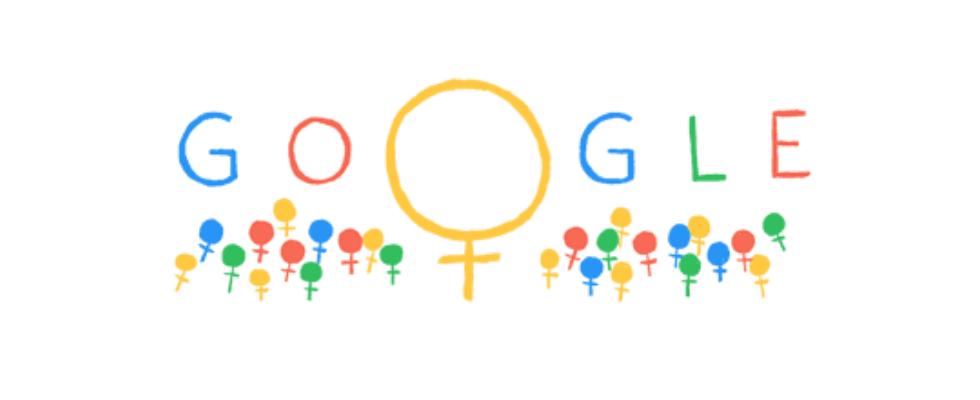 Google Doodle von heute: Frauentag 2014 – in 25 Ländern ein gesetzlicher Feiertag