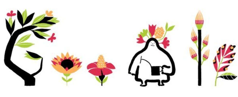 Google Doodle von heute: Frühlingstagundnachtgleiche – Der astronomische Frühling ist da!