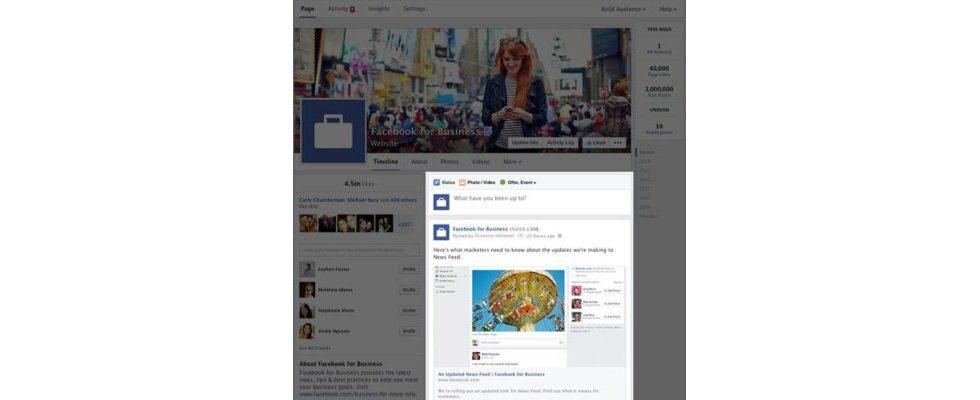 Facebook: Redesign des Layouts für Fanseiten