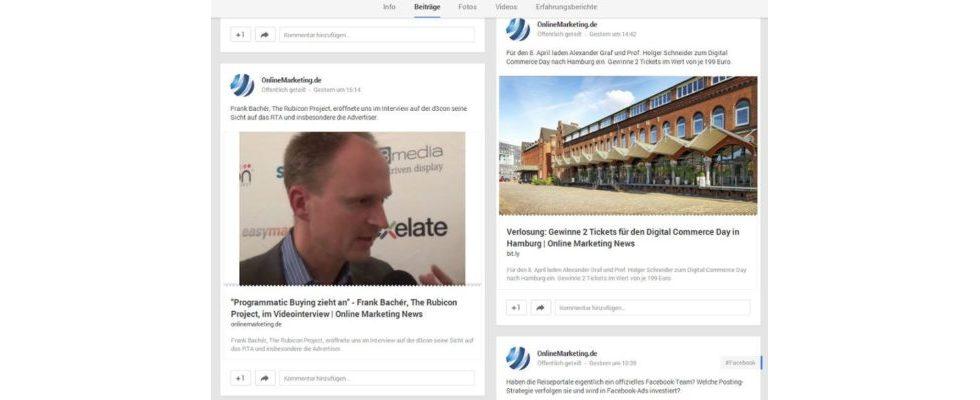 Google Plus Update: Thumbnails der Link-Posts werden riesig