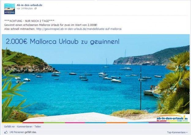Facebook-Post von Ab-in-den-Urlaub.de