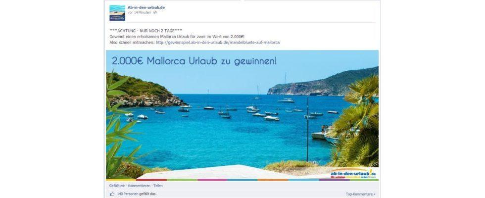 Wie nutzen die Top-Reiseportale Social-Media? Ab-in-den-urlaub.de und TUI sind am beliebtesten bei den Deutschen