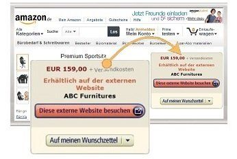 Amazon Produktanzeigen - Quelle: amazon.de