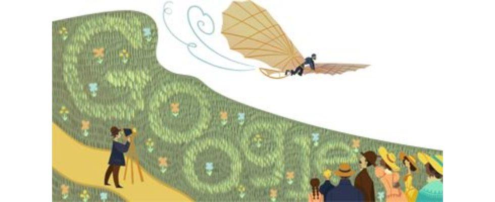 Google Doodle von heute: Otto Lilienthal – der erste Mensch, dem ein Gleitflug gelang