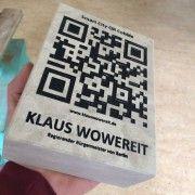 QR Pflasterstein für Wowereit  (Foto: Deutsche Gesellschaft für multimediale Kundenbindungssysteme)