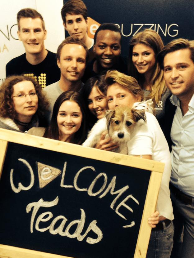Selfie-Time: Das Team von Ebuzzing& Teads freut sich auf die dmexco 2014