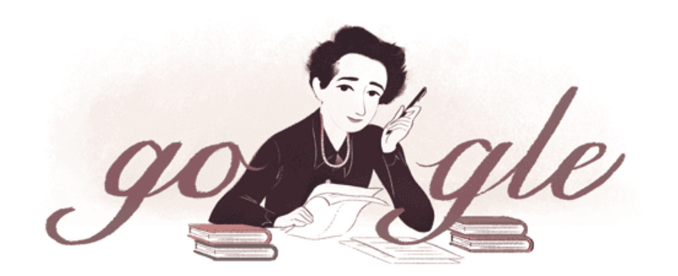 Google Doodle von heute: Hannah Arendt