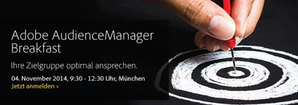 Adobe AudienceManager Breakfast Banner