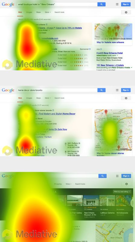 Google Eye Tracking Studie