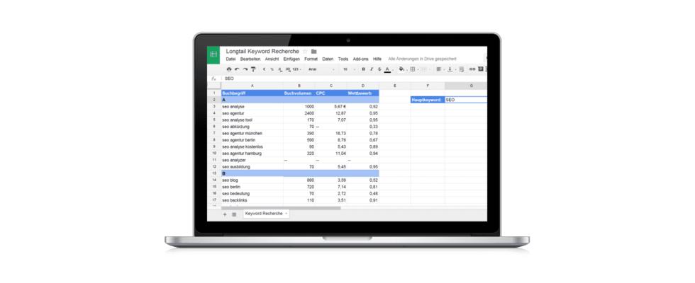 Tutorial: Longtail Keyword-Recherche mit Google Docs
