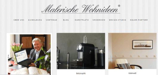 """""""Malerische Wohnideen"""" präsentiert Volker Geyer auf seiner Unternehmensseite. (Foto: malerische-wohnideen.de)"""