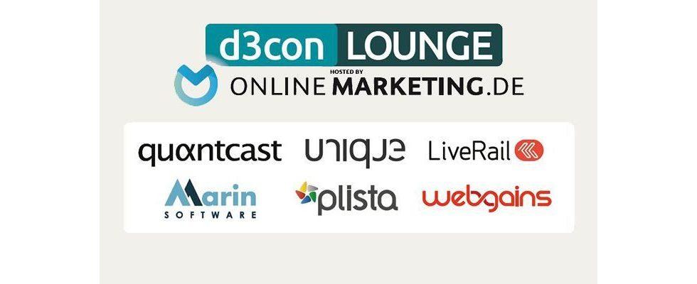 d3con-Lounge wird auch 2015 von OnlineMarketing.de veranstaltet