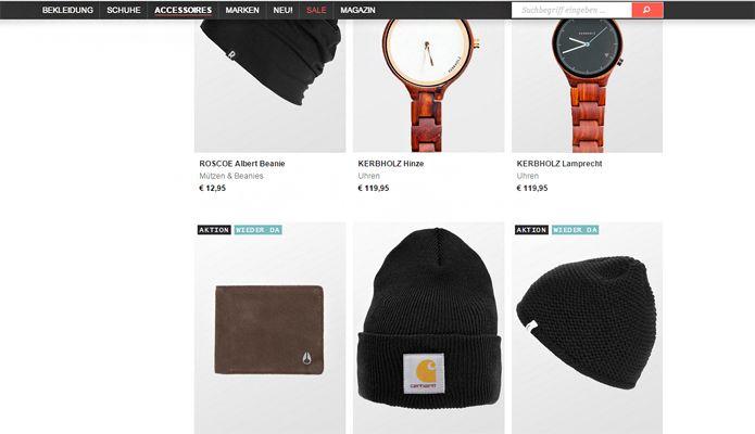 Frontline hält die Kopfzeile schlicht und einfach, aber funktionell und orientiert sich damit am Design der Seite. ©frontlineshop.com
