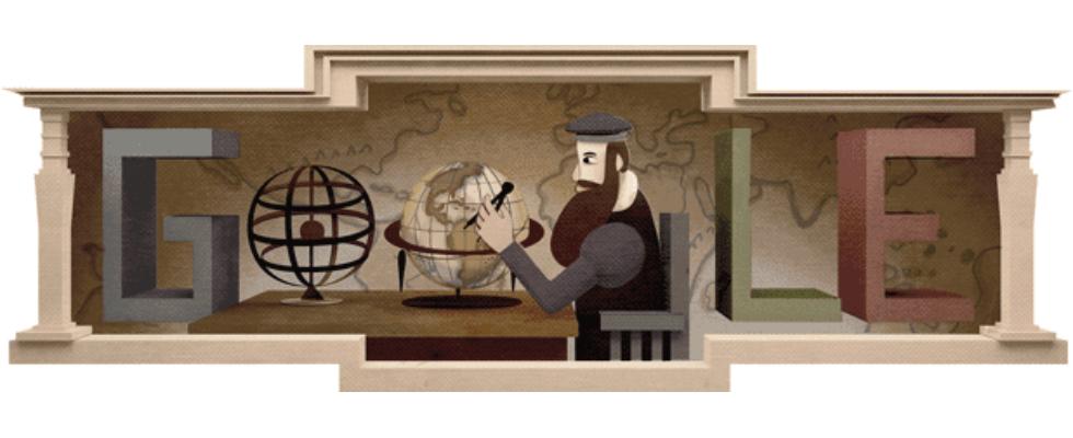 Google Doodle von heute: Gerhard Mercator