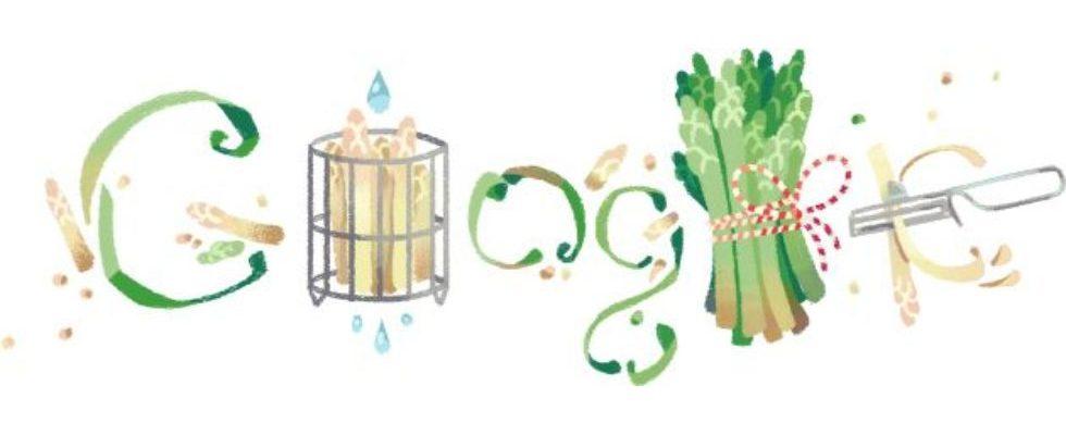 Google Doodle von heute: Spargelsaison