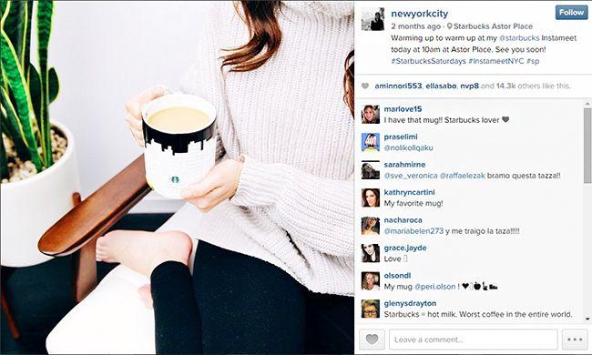 Auch Liz Eswein wurde von Starbucks verpflichtet und kann so für eine große Reichweite sorgen