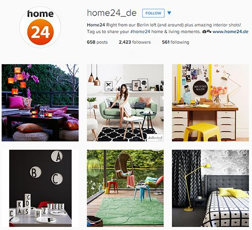Shoppingkanal Home24 auf Instagram