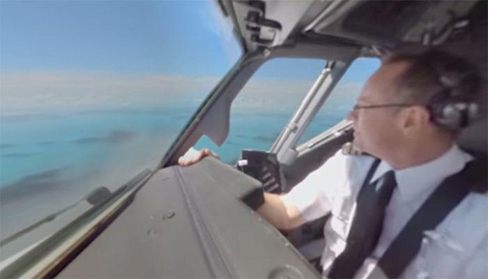 Das 360 Grad Video von Qantas zeigt unter anderem die Landung auf Hamilton Island im Great Barrier Reef, Australien  © YouTube / Qantas