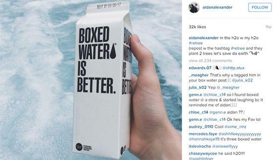 @aidanalexander engagierte sich für die #Retree-Kampagne von Boxed Water