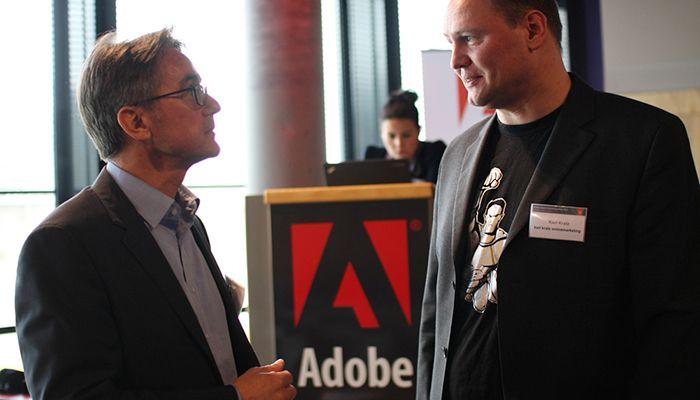 Andreas Helios, Senior Group Manager Enterprise Marketing Central Europe, Adobe Systems. im Gespräch mit Karl Kratz, Online Marketing-Urgestein