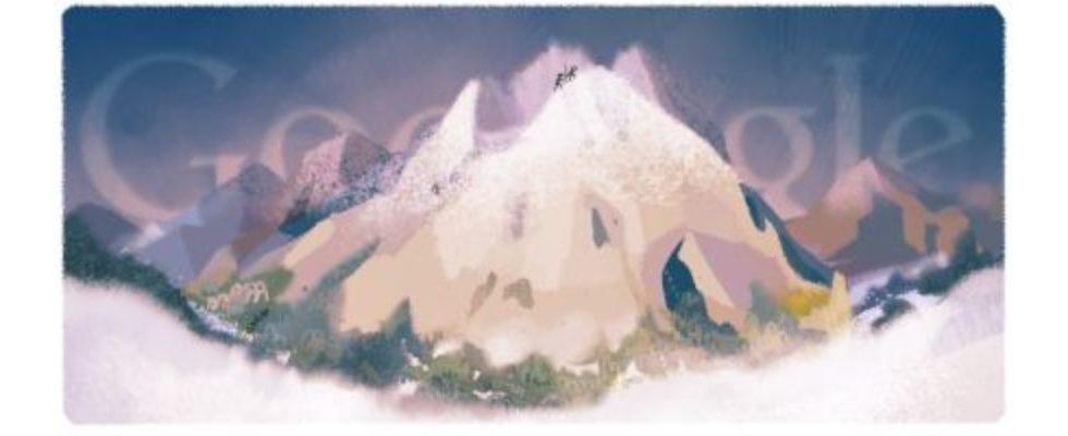 Google Doodle von heute: Erstbesteigung des Mont Blanc