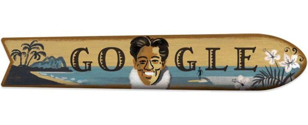 Google Doodle von heute: Duke Kahanamoku