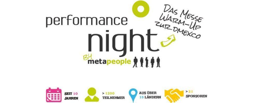 Ab heute beginnt die Anmeldephase zur metapeople Performance Night 2015