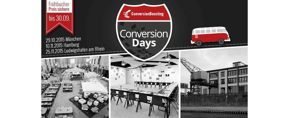 ConversionDays 2015 – mehr Erfolg mit Website und Shop [Sponsored]