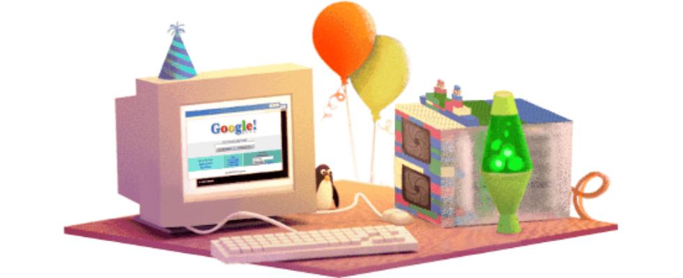 Google Doodle von heute: Googles Geburtstag