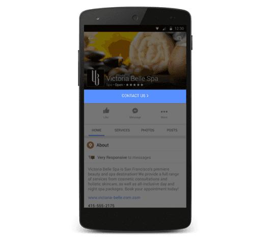 Facebook Mobile Update: Neue CTAs