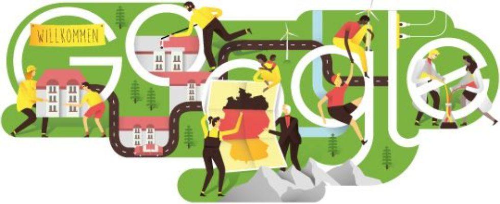 Google Doodle von heute: Wiedervereinigung