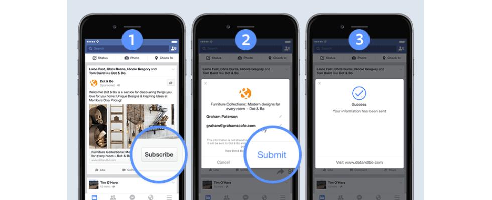 Facebook launcht Lead Ads – Leadgenerierung mit nur 2 Klicks