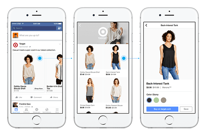 Facebook Shopping Feature: Connecting People to Brands and Products on Mobile