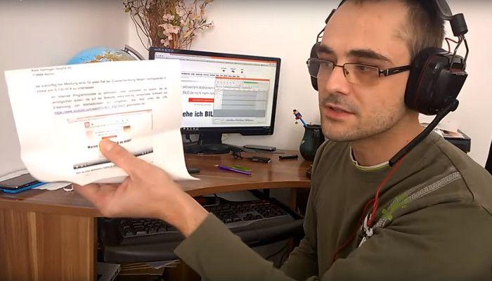 Abmahnung wegen Umgehungsvideo: YouTuber geht gegen BILD.de und die Adblocker-Sperre vor