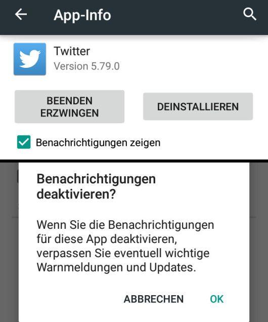 Twitter App Pushnachrichten