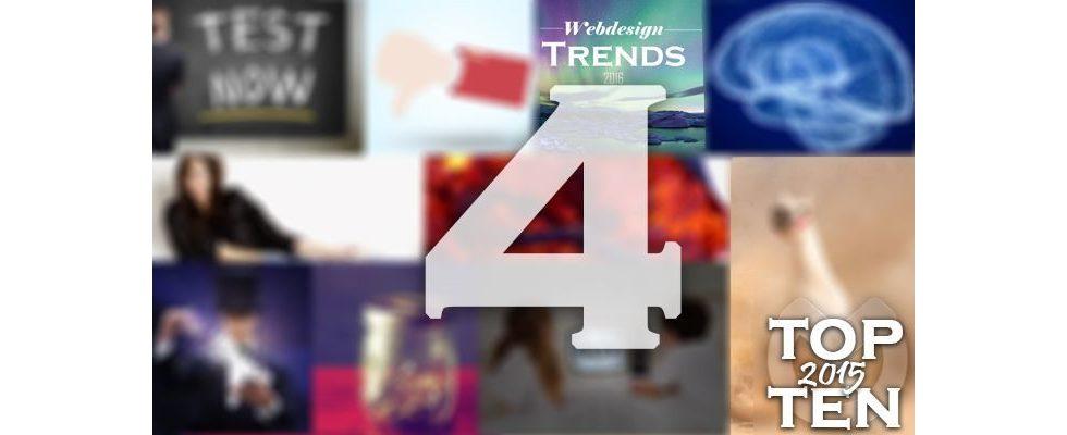 Top Ten 2015: Platz 4 – Webdesign 2016: Auf diese 6 Trends sollten Marketer sich einstellen