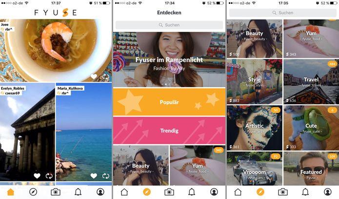 Anschauliches Design und einfach zu bedienen: Fyuse ist eine App und soziales Netzwerk für räumliche Fotografie