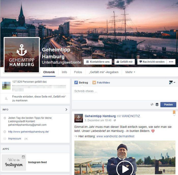 Geheimtipp Hamburg Facebook