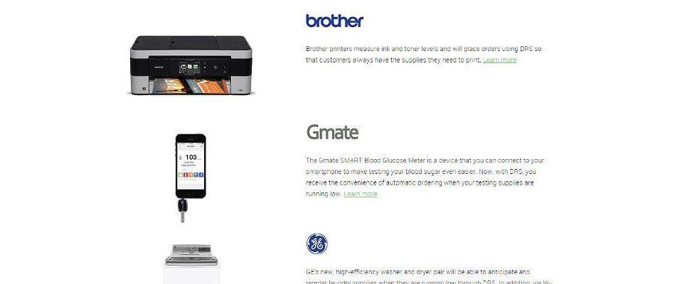 Nie wieder ohne Tinte im Drucker: Erste Amazon Dash Replenishment Produktreihe verfügbar