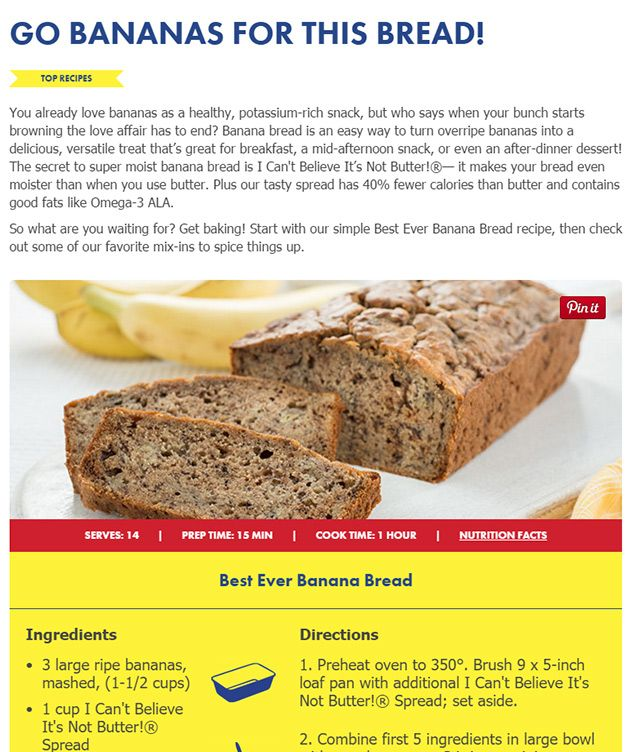 Content Marketing by I Can't Believe It's Not Butter