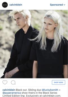 © marketingland, Foto Ad von Calvin Klein auf Instagram