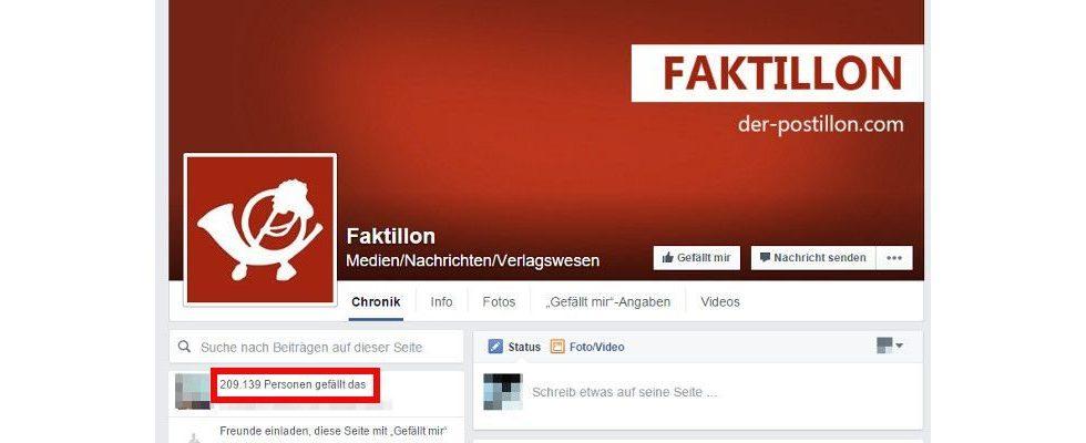 """200.000 Fans mit nur 9 Posts: Faktillon """"überfordert"""" Facebook mit seinem extremen Wachstum"""