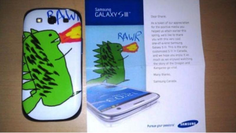 © bufferapp, Samsung Kunde erhält Smartphone mit seinem 'Design'