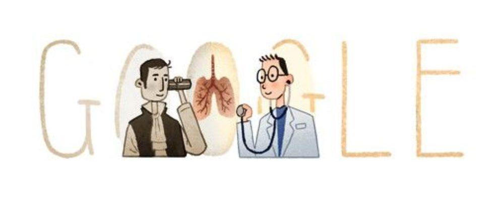 Google Doodle von heute: René Laënnec