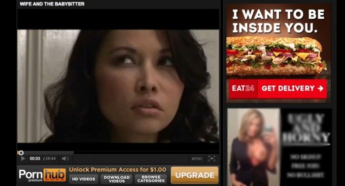 Lieferdienst Eat24 mit Display-Kampagne bei Pornhub 2013