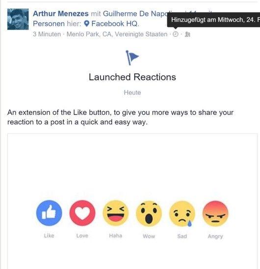 Einer der Entwickler gibt auf Facebook das Rollout bekannt