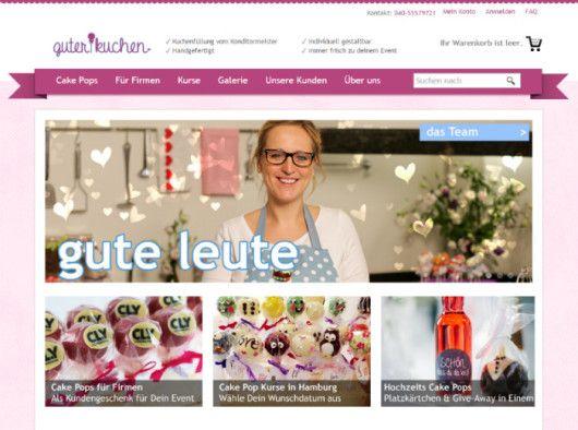 Im Onlineshop guterkuchen.de erkennt der Besucher innerhalb weniger Sekunden, was hier verkauft wird.